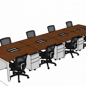 Estacion de trabajo para 8 Personas