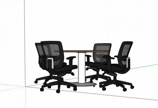 mesa de reuniones 4 personas