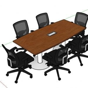 mesa de reuniones 6P